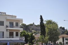 Śródmieście Nafplio od Peloponnese w Grecja obraz stock