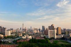 Śródmieście Nanjing, Chiny obrazy royalty free