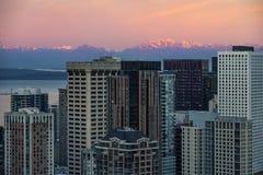 Śródmieście Seattle linia horyzontu zdjęcie stock