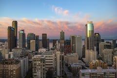 Śródmieście Seattle linia horyzontu obrazy stock