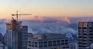 Śródmieście Seattle linia horyzontu fotografia royalty free