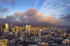 Śródmieście Seattle linia horyzontu obrazy royalty free