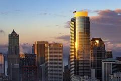Śródmieście Seattle linia horyzontu obraz stock