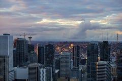 Śródmieście Seattle linia horyzontu zdjęcia stock