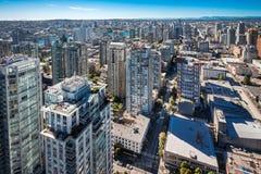 Śródmieście Vancouver Kanada widok z lotu ptaka Zdjęcia Royalty Free