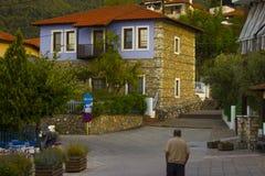 Śródmieście w starym mieście Stavros Zdjęcie Stock