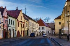 Śródmieście w Trebon, republika czech zdjęcie stock