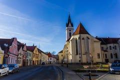 Śródmieście w Trebon, republika czech obrazy royalty free