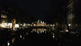 Śródnocny Amsterdam zdjęcie royalty free