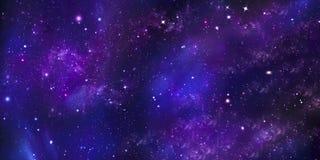 Śródnocny gwiaździsty niebo Zdjęcie Stock