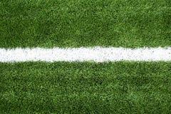 śródpolna trawa wykłada piłka nożna biel Fotografia Royalty Free