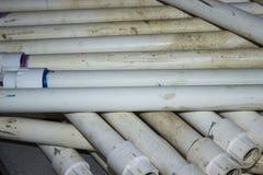 Śródpolne irygaci PVC drymby fotografia royalty free