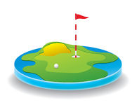 śródpolny golf royalty ilustracja
