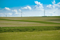 śródpolny krajobrazowy łąkowy lato Fotografia Stock
