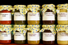 Śródziemnomorscy smakosze w słojach Zdjęcie Royalty Free