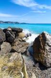 Śródziemnomorska linia brzegowa Zdjęcie Royalty Free