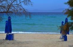 Śródziemnomorska plaża Zdjęcia Stock