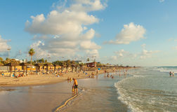Śródziemnomorska plaża Haifa, Izrael obrazy royalty free