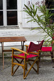 śródziemnomorska restauracja Fotografia Stock