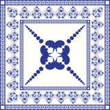 Śródziemnomorska tradycyjna błękitna i biała płytka Zdjęcia Royalty Free