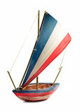 Śródziemnomorska wzorcowa żeglowanie łódź Obraz Royalty Free