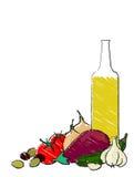 śródziemnomorski życia warzywo wciąż Obraz Stock