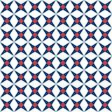 Śródziemnomorski bezszwowy wzór Ceramicznej płytki tekstura, płytki deseniuje wektorową ilustrację royalty ilustracja