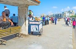 Śródziemnomorski deptak Zdjęcie Royalty Free