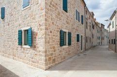 Śródziemnomorski kamień budujący domy fotografia stock