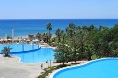 Śródziemnomorski krajobraz z góry fotografia royalty free