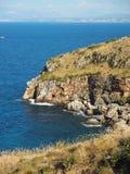 Śródziemnomorski krajobraz, Zingaro rezerwa w Sicily, blisko Catania zdjęcia royalty free