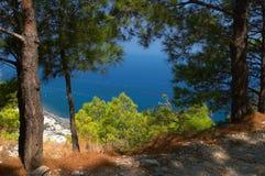 Śródziemnomorski krajobrazowy Grecja obrazy royalty free