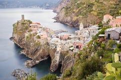 Śródziemnomorski miasteczko Obrazy Royalty Free