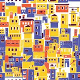 Śródziemnomorski miasteczko, pogodna wioska, Indiańscy slamsy Zdjęcia Stock