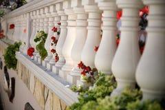 Śródziemnomorski ogrodzenie w domu Zdjęcie Royalty Free