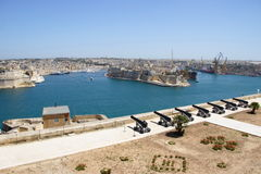 Śródziemnomorski schronienie Valletta zdjęcie royalty free