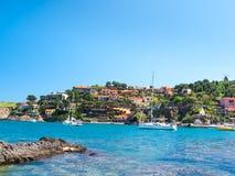 Śródziemnomorski wakacyjny miejsce przeznaczenia Zdjęcia Royalty Free
