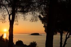 Śródziemnomorski wschód słońca Obrazy Royalty Free