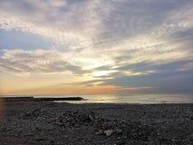 Śródziemnomorski wschód słońca w chmurach zdjęcie royalty free