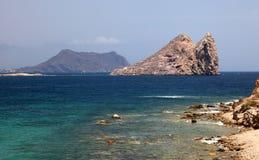 Śródziemnomorski wybrzeże blisko Aguilas, Hiszpania Fotografia Stock