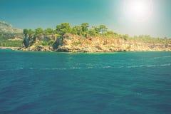 Śródziemnomorski wybrzeże, Indyczy Kemer Zdjęcie Stock