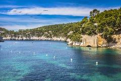 Śródziemnomorski wybrzeże w Provence Fotografia Stock