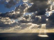 śródziemnomorski zmierzch Zdjęcia Royalty Free