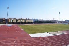 Śródziemnomorskich gier atletyka stadium w Tarragona zdjęcia royalty free