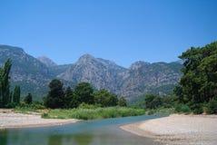 Śródziemnomorskie wody piękny seascape obraz royalty free