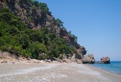 Śródziemnomorskie wody piękny seascape fotografia royalty free