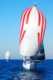 śródziemnomorskiego żeglowania denny jacht obraz stock