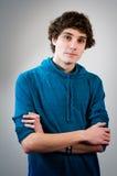 Średni nastoletni chłopak Zdjęcia Royalty Free