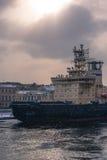 Średnia nadbudowa statek Zdjęcie Royalty Free
