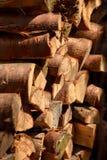 Średniej wielkości beli Woodpile fotografia royalty free
